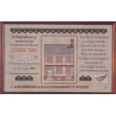 Simply Colonial Sampler - The John Palmer House~Williamsburg, VA.~Circa 1732